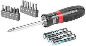 Craftsman LED Lighted Ratcheting Multi-Bit Screwdriver