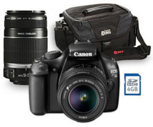 "Canon EOS Rebel T3 12.2MP 2.7"" Digital SLR Camera Bundle"