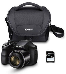 Sony DSCH200 20MP Digital Camera Bundle w/ Camera Bag & 8GB SDHC Card