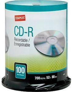 Staples CD-R 100-Pk.