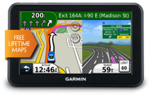 "Garmin 5"" GPS w/ Lifetime Map Updates"