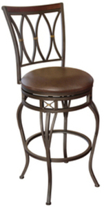 "allen + roth Hannah 30"" Bar Stool - Dark Champagne Bronze"