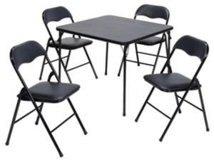 SuddenComfort Folding Table with Four Chairs