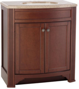 Style Selections Delyse Java Integral Bathroom Vanity with Top