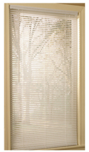 "Project Source 29""x64"" White Vinyl 1"" Slat Mini-Blind"
