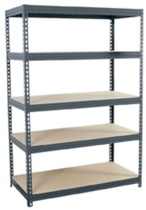 "Edsal 72"" 5-Tier Steel Freestanding Shelving Unit"