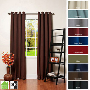 "Solid Insulated Thermal Blackout 84"" Curtain Panel Pair"