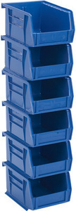 Quantum Heavy-Duty Storage Bins 6 Pack - Blue