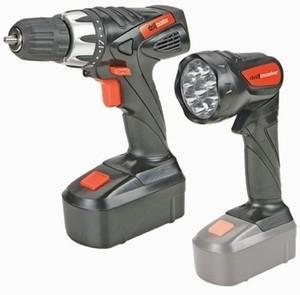 Drillmaster 18V Drill Driver Flashlight Set