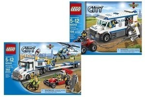 LEGO City Police Prisoner Transporter and Helicopter Transporter Bundle