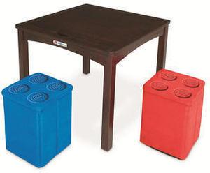 Imaginarium Table with 2 Storage Ottomans