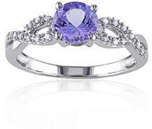 10K Tanzanite & Diamond Ring
