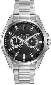 Citizen Men's Quartz Stainless Steel Watch with Day Date