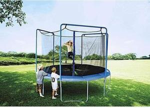 Sportspower 12 ft Trampoline w/ 3-Arch Enclosure