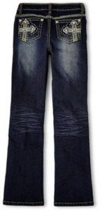 Revolution by Revolt Girls' Embroidered Bootcut Jeans