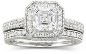 DiamonArt Cubic Zirconia Engagement Ring