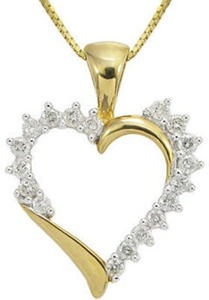 1/4 ct tw  10k Gold Diamond Pendant
