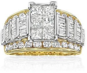 3 ct. tw. Diamond Multi-Stone Engagement Ring