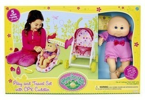 Cabbage Patch Kids Play and Travel Accessory Set with CPK Cuddler