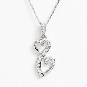 Love is Forever Genuine Diamond Pendants in Sterling Silver