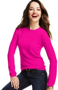 Charter Club Women's Cashmere Long Sleeved Crew Neck Sweater