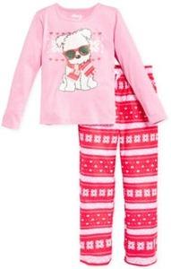 Sleep On It Girls' 2-PC Fair-Isle Pup Pajamas