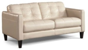 "Milan 67"" Leather Loveseat"