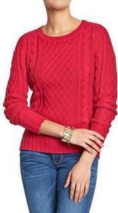 Women's Cable Knit Crew Sweaters