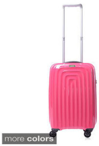 "Lojel Wave Polycarbonate 22"" Small Carry-On Upright Spinner Suitcase"