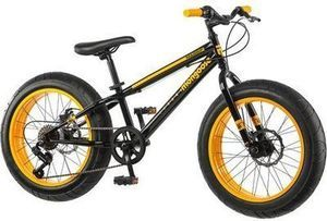 "Mongoose Boys' Massif 20"" 7-Speed Fat Tire Bike"