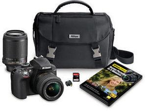 "Nikon D3300 24.2MP CMOS 3"" LCD Digital SLR Camera Bundle"