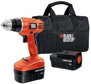 Black & Decker 18v 2-Battery NiCad Drill