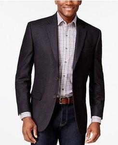 Lauren Ralph Lauren Navy Check Cashmere-blend Classic-Fit Sport Coat