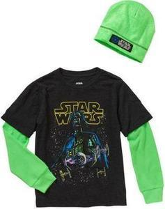 Star Wars Neon Lord Boys 2fer Graphic Tee and Beanie Combo