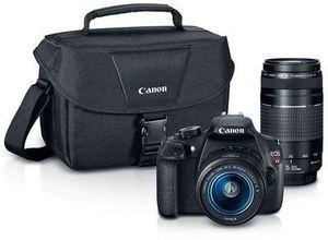 Canon EOS Rebel T5 Digital SLR Camera with Bag + Lenses