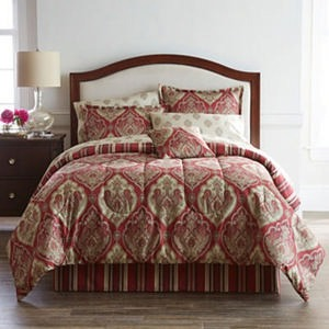 Home Expressions Chandler Damask Complete Bedding Set with Sheets Collection