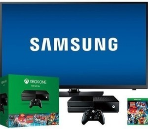 Samsung TV with Xbox One 500GB Lego Movie Video Game Bundle
