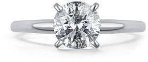 1 ct. tw. Round Diamond Solitaire Ring in 14K White Gold