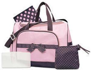 Baby Essentials 4 in 1 Duffle Diaper Bag - Pink