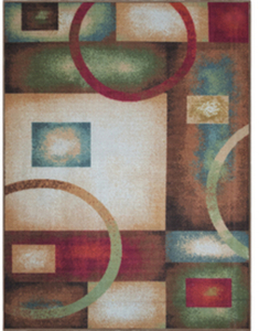 Oriental Weavers of America Gatsby Rectangular Brown Block Tufted Area Rug (Common: 5-ft x 7-ft; Actual: 60-in x 79-in)