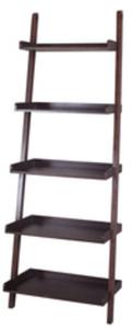 allen + roth Java 27-in W x 81-in H x 17.63-in D 5-Shelf Bookcase