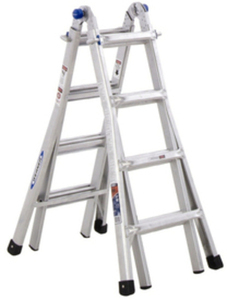 Werner 17-ft Aluminum 300-lb Telescoping Type IA Multi-Position Ladder