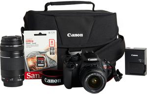 Canon EOS Rebel T5 18MP DSLR Camera Bundle Military Exclusive