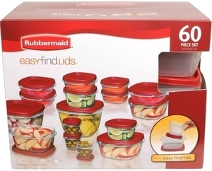 Rubbermaid 60 pc. Easy Find Lid Food Storage Container Set