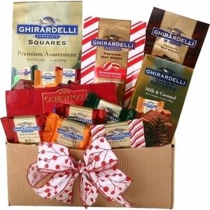 Alder Creek Gift Baskets Ghirardelli Classic Holiday Gift Box