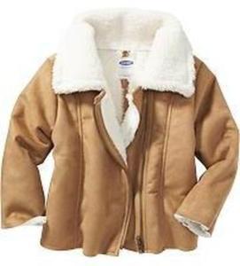 Toddler Girls' Sherpa Moto Jackets