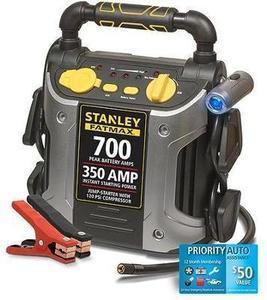 Stanley 'FatMax' 700-Amp Peak Jump Starter with Compressor & *Bonus* Road-Side Service #J7CSR