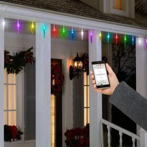 AppLights 24-Light Multi-Color Icicle String Light Set