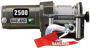 Badland 2500 lb. ATV/Utility Electric Winch with Wireless Remote Control