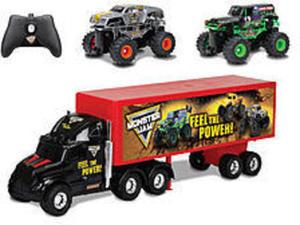New Bright R/C Monster Jam Truck Carrier Set